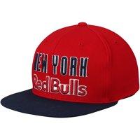 New York Red Bulls Mitchell & Ness Wordmark Flex Adjustable Snapback Hat - Red - OSFA
