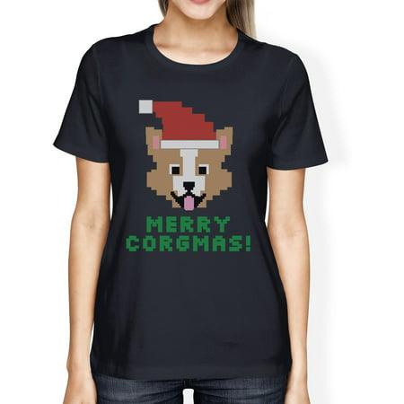 Merry Corgmas Corgi T-Shirt For Womens Christmas Gift Dog Mom Gifts ...