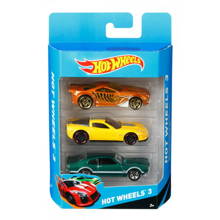 Hot Wheels 3 Die-Cast Car Gift Pack (Styles May Vary) (Hot Wheel City Cars For Sale)