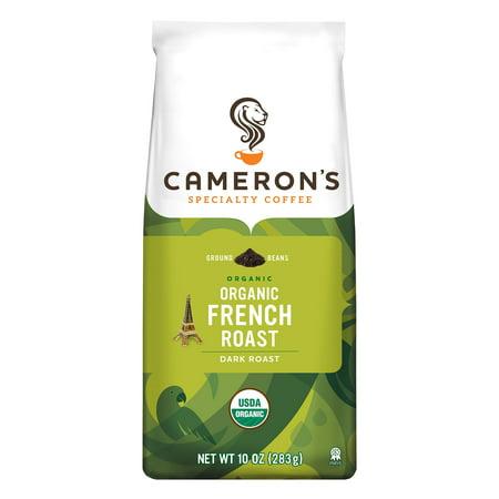 Cameron's Specialty Coffee Organic French Roast Ground, 10oz Dry Organic Coffee