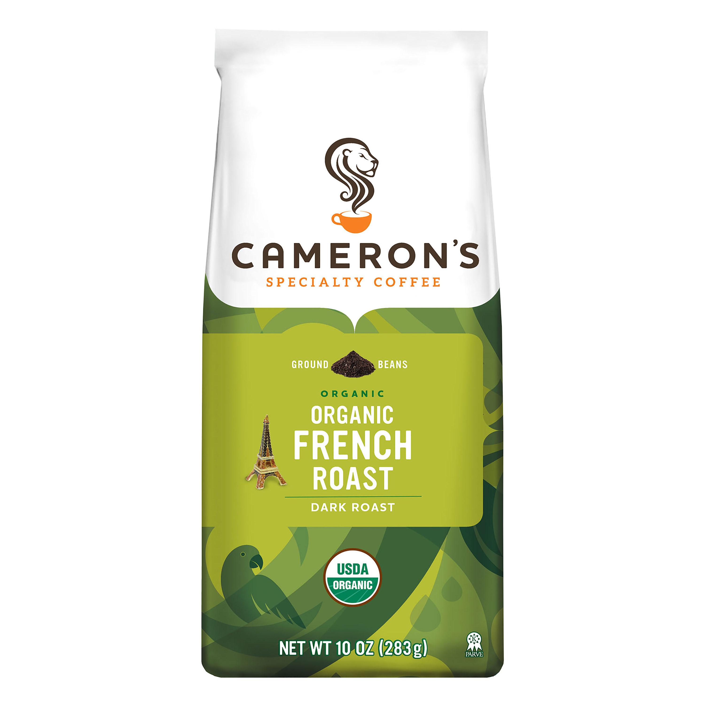 Cameron's Specialty Coffee Organic French Roast Ground, 10oz