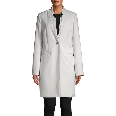 Kenneth Cole Quilted Coat - Single-Breasted Notch-Neck Jacket