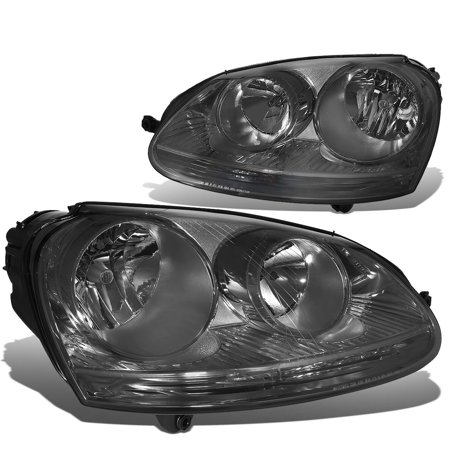 For 2005 to 2010 Volkswagen VW Golf / GTI / Jetta / Rabbit Pair Smoked Housing Headlight Headlamps Left+Right