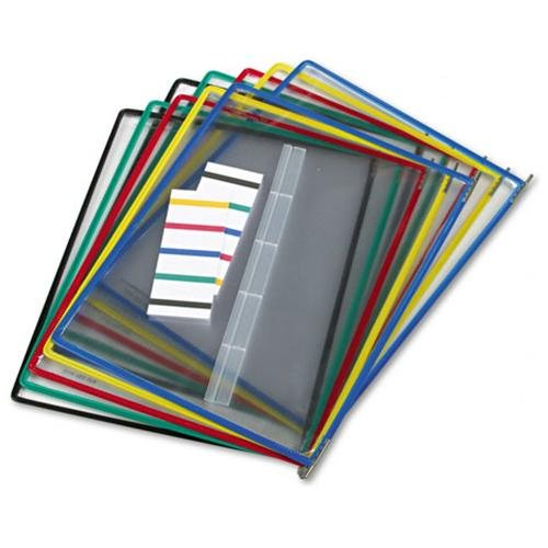 Tarifold Pivoting Pocket Packs - Letter Size - Metal, Steel, Polyvinyl Chloride [pvc] - 10 / Pack - Assorted, Clear (p090)