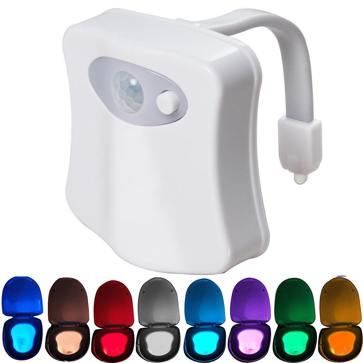 Unique /& Funny Birthday Gifts Idea for Dad Teen Boy Kids Men Women Cool Fun Gadgets 16-Color Toilet Night Light Motion Activated Detection Toilet Bowl Lights 1 Pack Toilet Light
