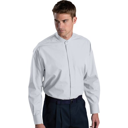 Edwards Men's Big And Tall Banded Collar Long Sleeve Shirt, Style 1396