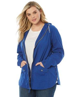 Roaman's Plus Size Hooded Anorak Jacket