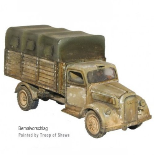 Warlord Games Bolt Action World War 2 Ss Opel Blitz 3 Ton Truck Closed Canopy