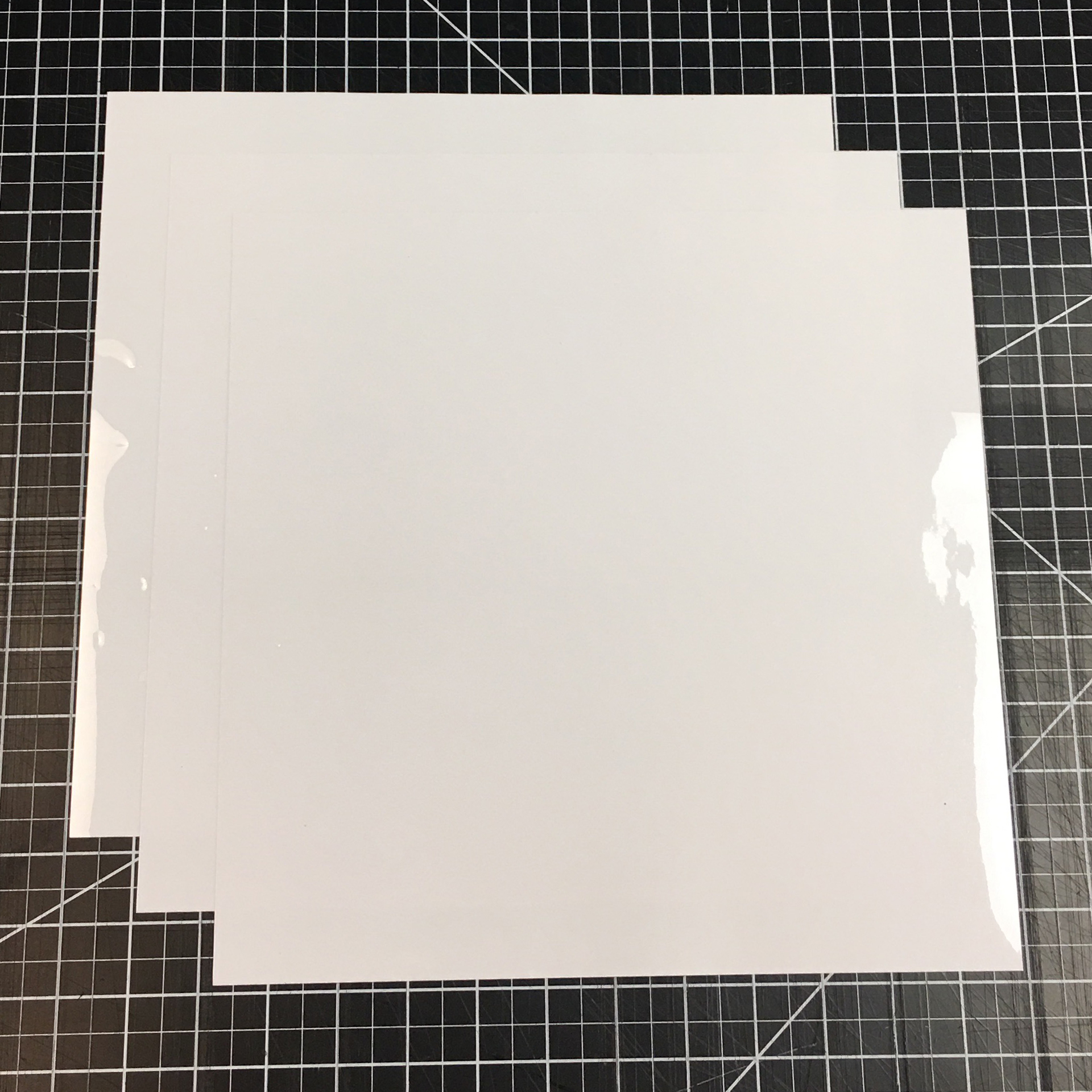 "White ThermoFlex Stretch 15"" x 12"" (3 Sheets) of Iron on Heat Transfer Vinyl, HTV"