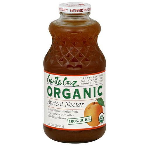 Santa Cruz Organic Apricot Nectar Juice, 32 oz (Pack of 6)