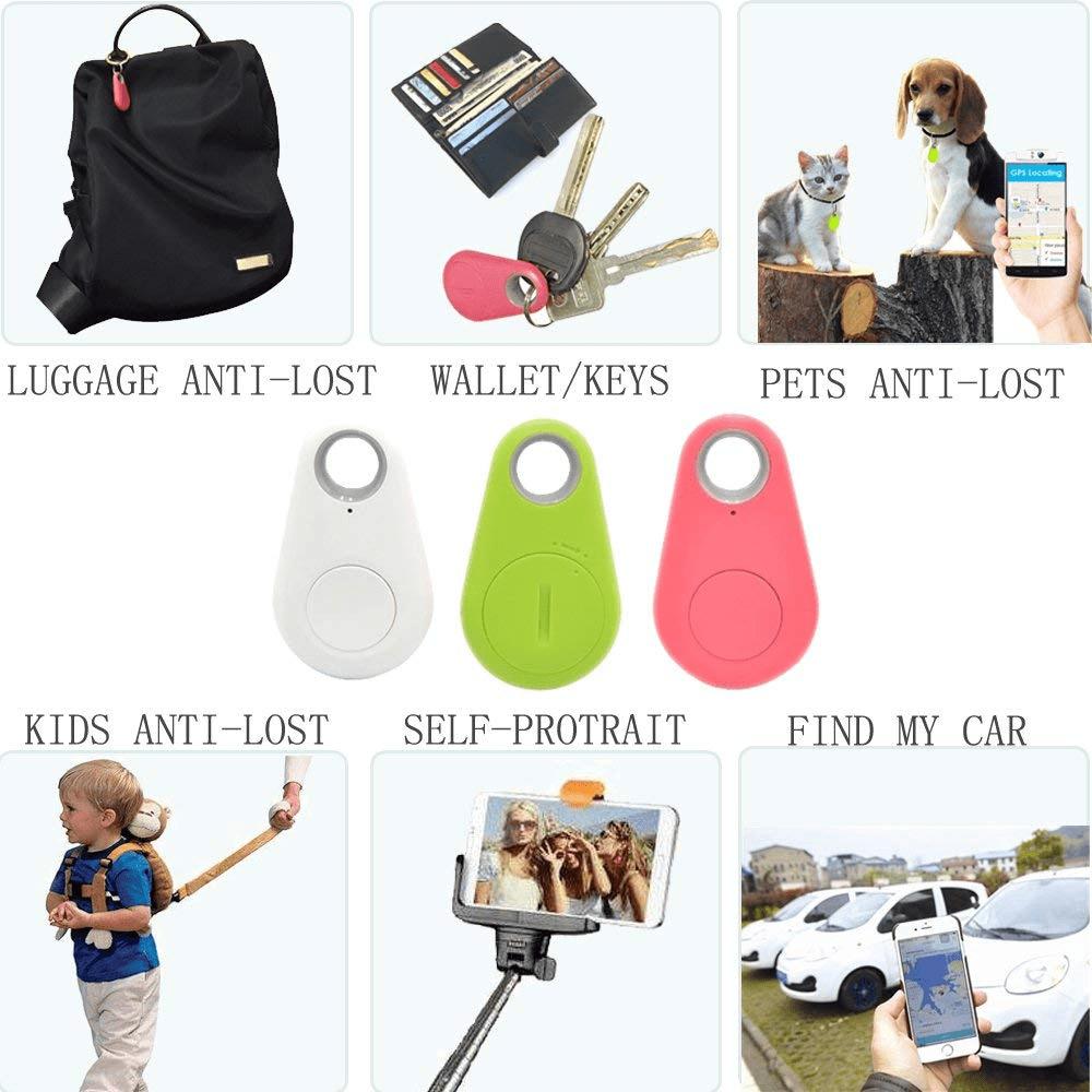 2 PCS Anti-Lost Smart Bluetooth Tracker Child Bag Wallet Key
