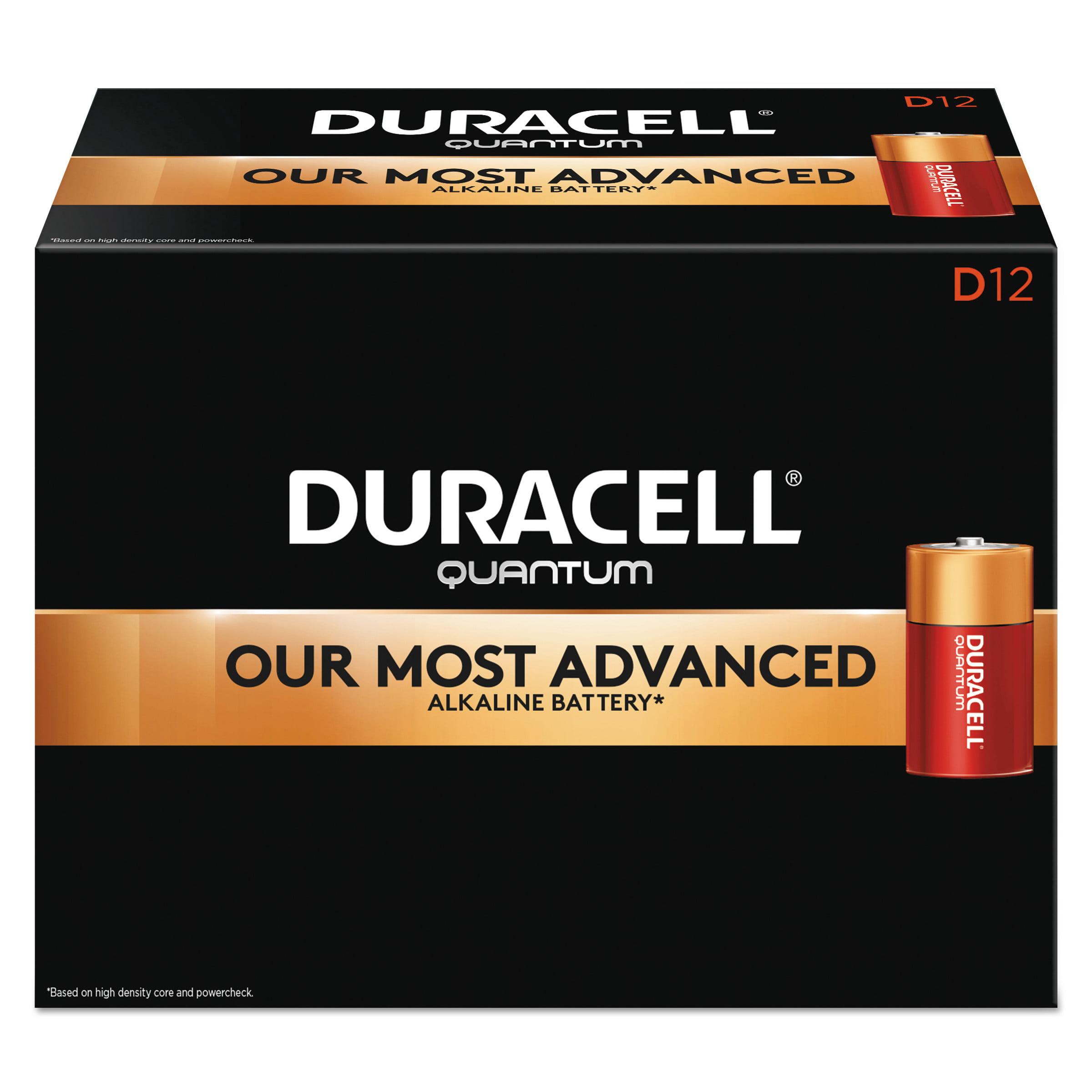 Duracell Quantum Alkaline Batteries, D, 72/CT -DURQU1300