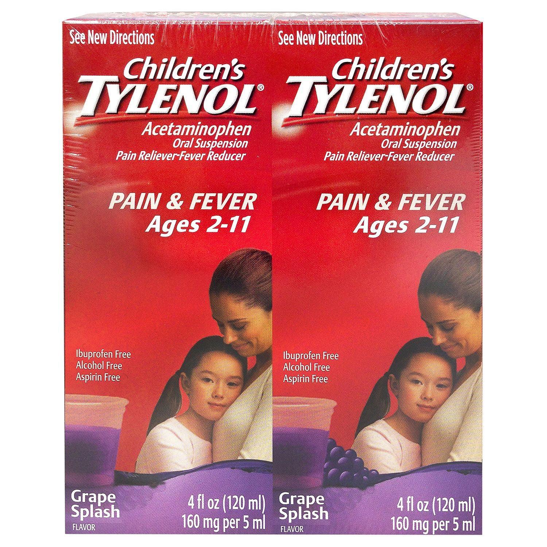 Children's Tylenol, Grape Splash Flavor, 4 Fl Oz, 2 Ct