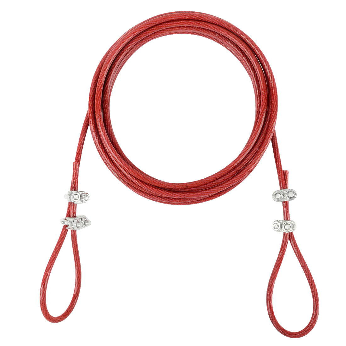Steel Cored Clothesline Hold up Heavy Weight Nylon Wrapped Red 5 Meters Length