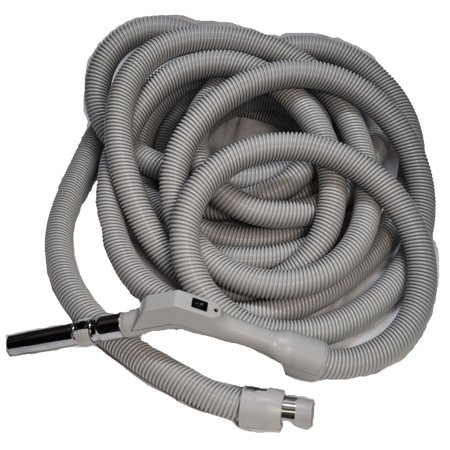 - Central Vac Hose Assy 40Ft Low Voltage Crushproof Hose With Switch-Grey