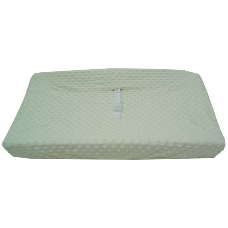 Green Changing Pad Cover - TL Care Heavenly Soft Minky Dot Fitted Contoured Changing Pad Cover, Celery