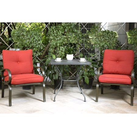 Cloud Mountain Bistro Table Set Outdoor Patio Furniture Wrought Iron 30