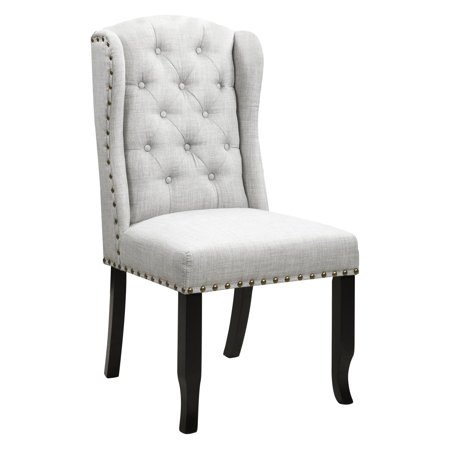 Vitra Set Chair - Chic Home Viola Tufted Dining Side Chair with Nailhead Trim - Set of 2