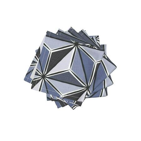 Cocktail Napkins Origami Three Dimensional Look Geometric Origami Set of