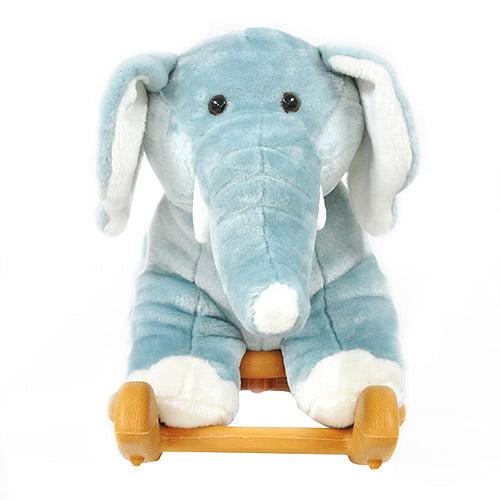 Radio Road Toys Voice Recording Rocker, Blue Elephant