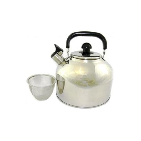 how to clean steel tea kettle