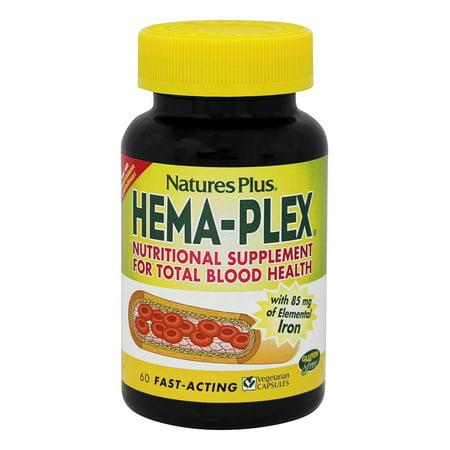 Nature's Plus - Hema-Plex - 60 Vegetarian (Body Plus Capsule)