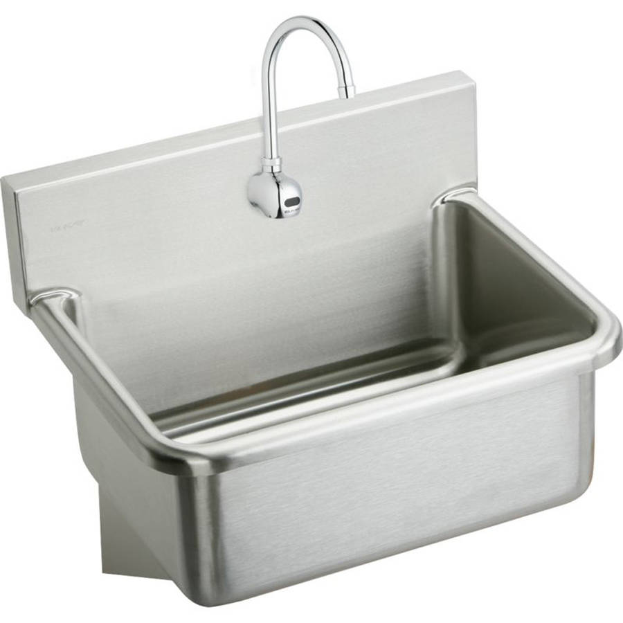 Elkay EWS3120SACC Commercial Scrub Sink Package with Single Faucet Hole