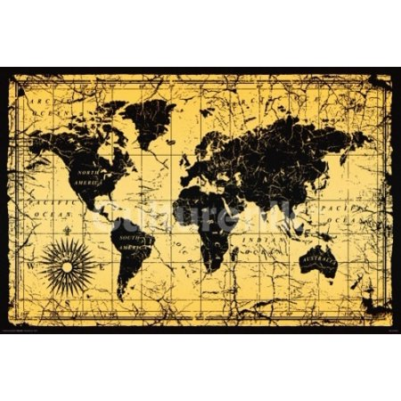 World map old style poster print 36 x 24 walmart world map old style poster print 36 x 24 gumiabroncs Gallery