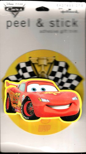 Lightning McQueen Peel & Stick Adhesive Gift Trim Hallmark Expressions Disney Pixar Cars Series by