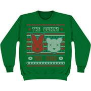 Bunny The Bear Men's  2014 Holiday Design Sweatshirt Green