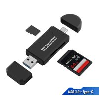 USB Type C SD Card Reader, USB 3.0 SD Card Reader OTG Adapter for SDXC, SDHC, MMC, RS-MMC, Micro SDXC, Micro SD, TF, Micro SDHC Card and UHS-I Cards for Mac OS Windows Linux Andriod