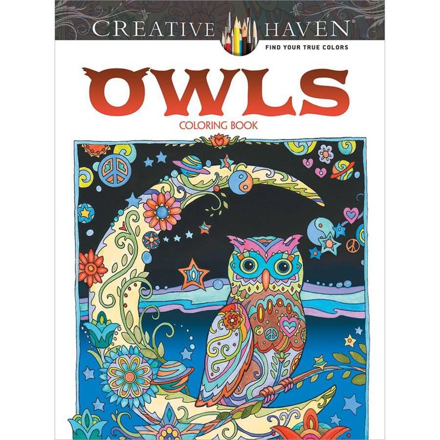 Dover Publications Creative Haven Owls