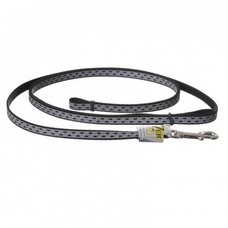 Lazer Brite Reflective Open Design Dog Leash Black Chain Link - 4