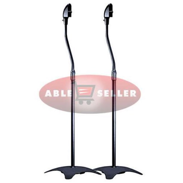 UNIVERSAL SURROUND SOUND SPEAKER STANDS SET OF 2 SATELLITE SPEAKER