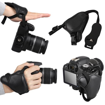 EEEkit Premium Alternative Leather Padded Secure Grip Strap for Canon EOS, Nikon, Sony, Olympus, Pentax & Panasonic SLR/ DSLR & Mirrorless Cameras ()