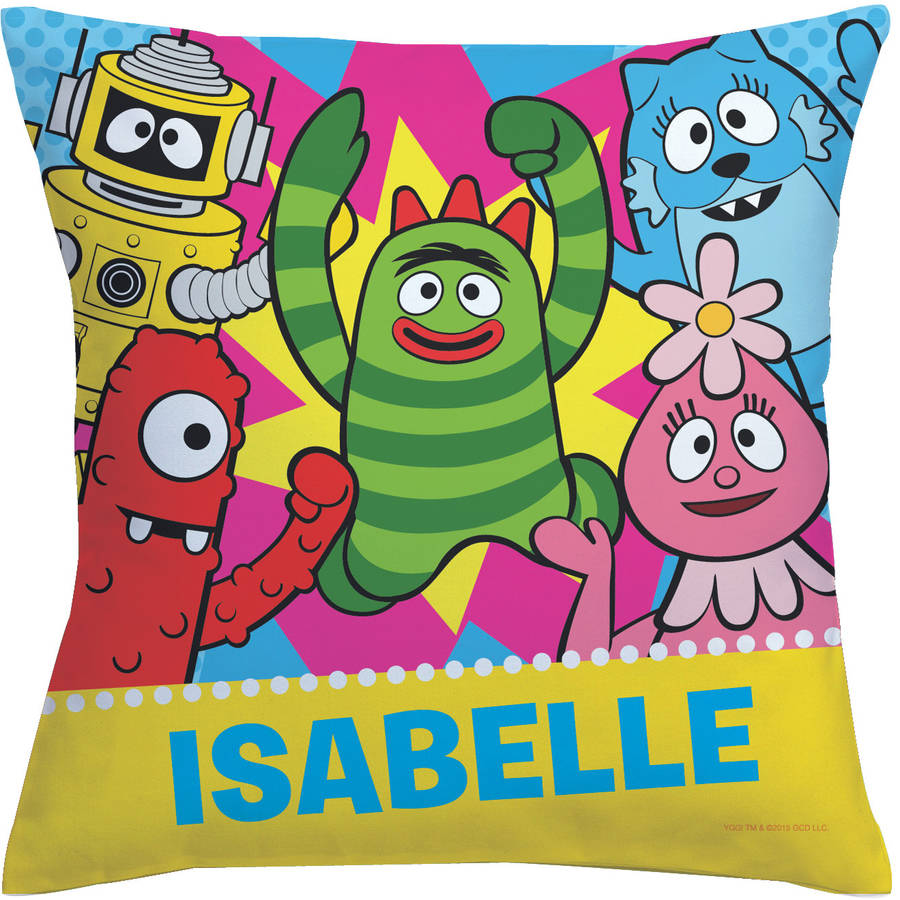 Personalized Yo Gabba Gabba Dance Party Throw Pillow
