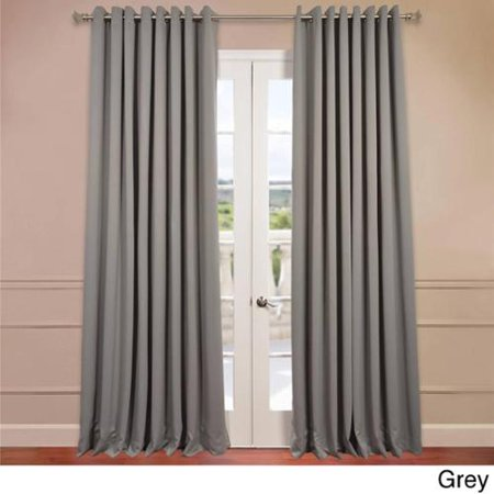 exclusive fabrics extra wide thermal blackout grommet top 120 inch curtain panel. Black Bedroom Furniture Sets. Home Design Ideas