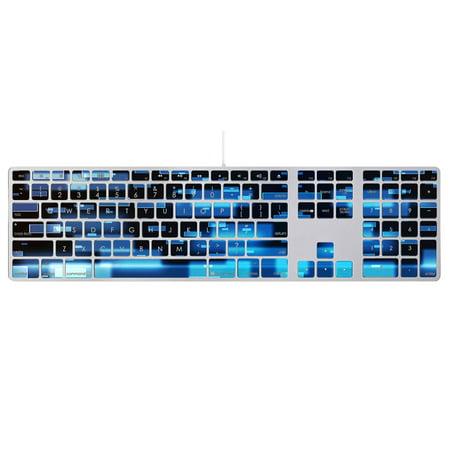 Skin Decal Wrap for Apple Keyboard with Numeric Keypad sticker Black Argyle Elite Lighted Keypad