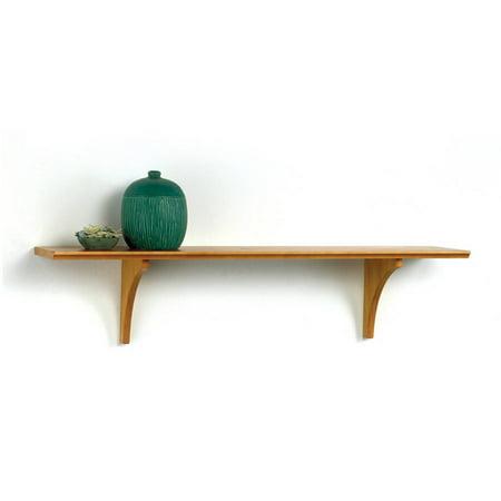 InPlace Shelving 46 in W x 7.5 in D x 8 in H Mission Shelf with Bracket, Honey Oak (Honey Oak Wall)