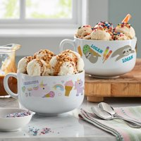 Personalized Summer's Sweet Treats Ice Cream Bowl - Available in 4 Options