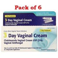 Clotrimazole 3 -Day Vaginal Cream, 0.74 Oz(Pack of 6)