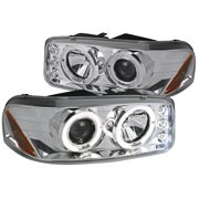 Spec-D Tuning 1999-2006 Gmc Sierra Denali Halo Projector Led Head Lights 1999 2000 2001 2002 2003 2004 2005 2006 (Left + Right)