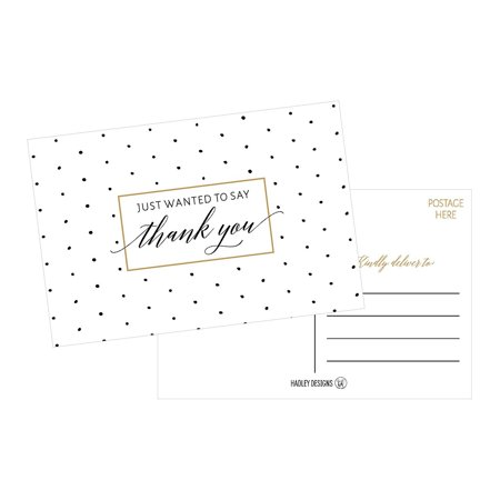 50 4x6 blank fill in thank you postcards bulk cute modern chic boho