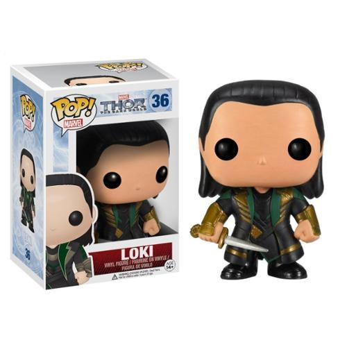 Funko POP Marvel Bobble Thor Movie 2 Loki Action Figure