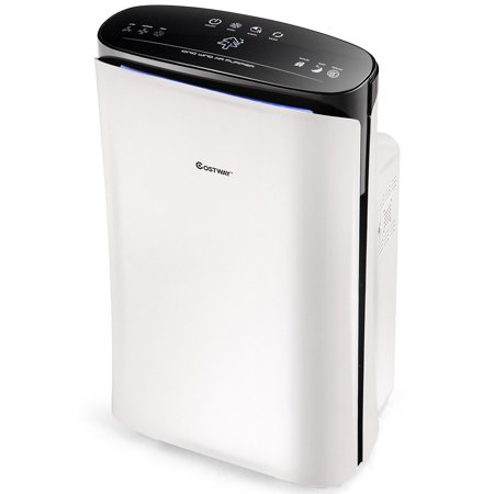 Costway Powerful Air Purifier Cleaner Hepa Filter To