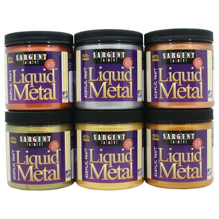 Sargent Art Liquid Metals Acrylic Paint, 8 oz., Aztec Gold