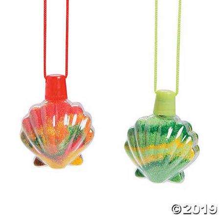 Sea Shell Sand Art Bottle Necklaces - Sand Bottle