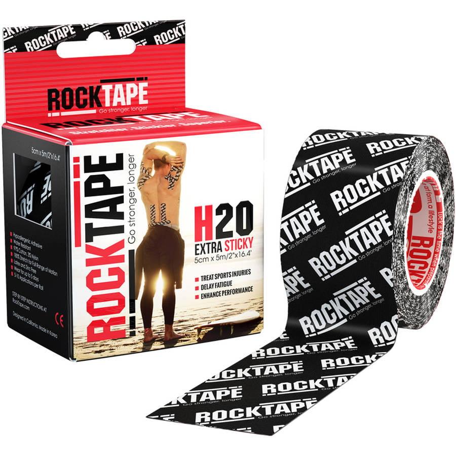 "2"" RockTape, H2O Black Logo"