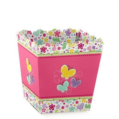 Flowers Treat (Playful Butterfly and Flowers - Party Mini Favor Boxes - Baby Shower or Birthday Party Treat Candy Boxes - Set of 12)
