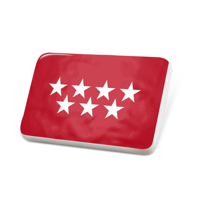 Porcelein Pin Madrid (Spain) Flag Lapel Badge – NEONBLOND